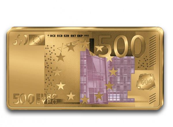 Goldbarren 500 Euro Schein
