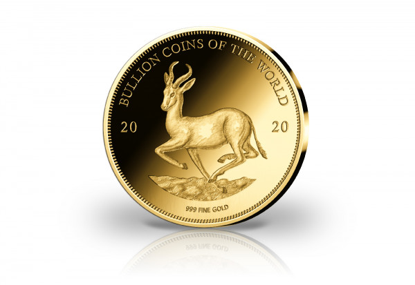 Goldmünze Motiv Krügerrand Springbock 2020 Bullion Coins of the World