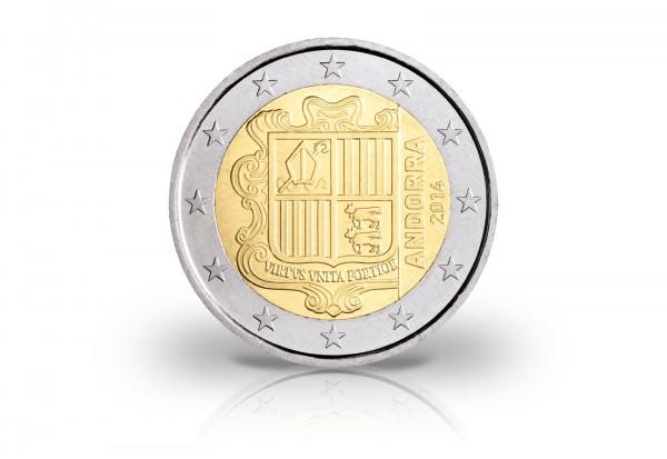 2 Euro 2014 Andorra Kursmünze