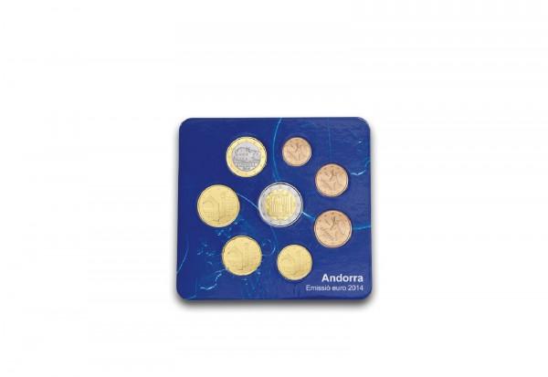 Kursmünzensatz 2014 Andorra im Blister