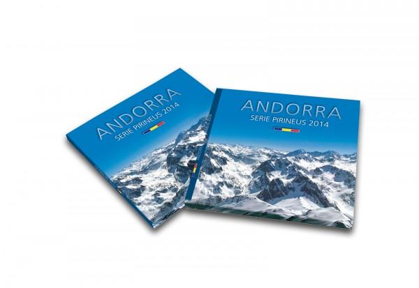 Kursmünzensatz 2014 Andorra Pyrenäen Satz inkl. Vor- und Euromünzen im Blister