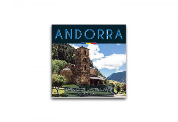Kursmünzensatz 2018 Andorra st im Blister
