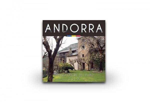 Kursmünzensatz 2019 Andorra st im Blister