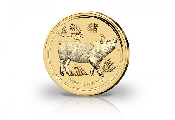 Lunar Serie 1/20 oz Gold 2019 Australien Jahr des Schweins