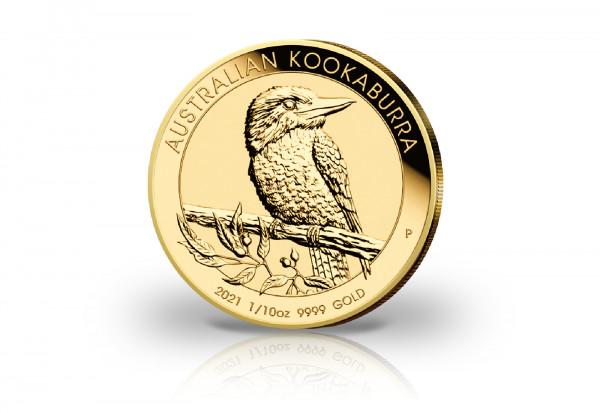 Kookaburra 1/10 oz Gold 2021 Australien