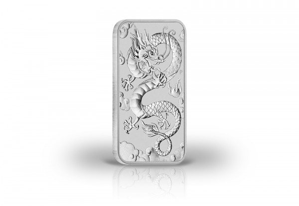 Drachen 1 oz Silber 2019 Australien Dragon Rectangle