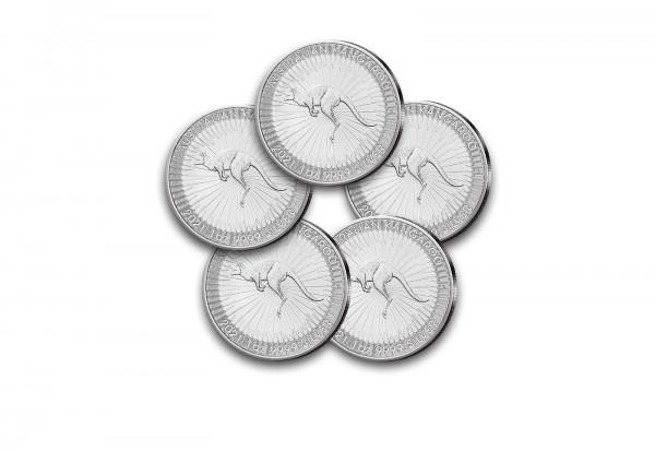 Känguru 1 oz Silber 2021 Australien im 5er Spar-Set