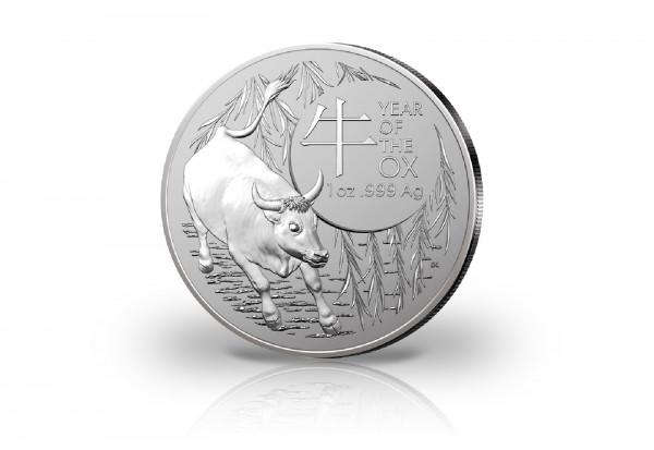 Jahr des Ochsen 1 oz Silber 2021 Australien