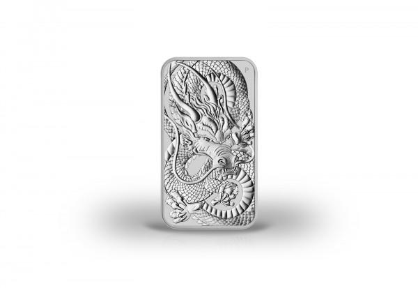 Drachen 1 oz Silber 2021 Australien Dragon Rectangle