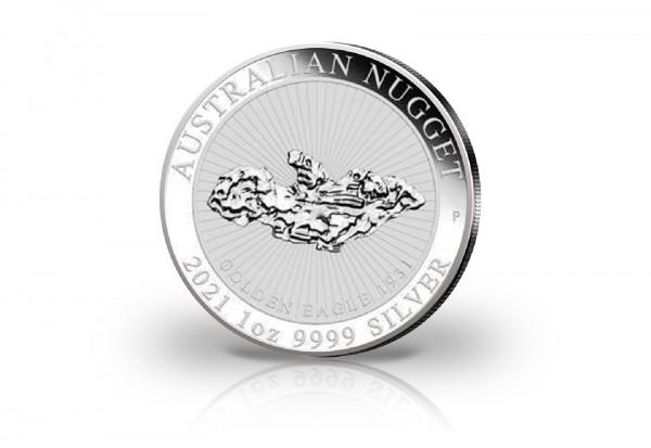 Australian Nugget Golden Eagle 1 oz Silber 2021 Australien