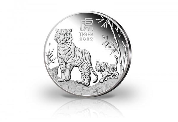 Lunar Serie 1 oz Silber 2022 Australien Jahr des Tigers