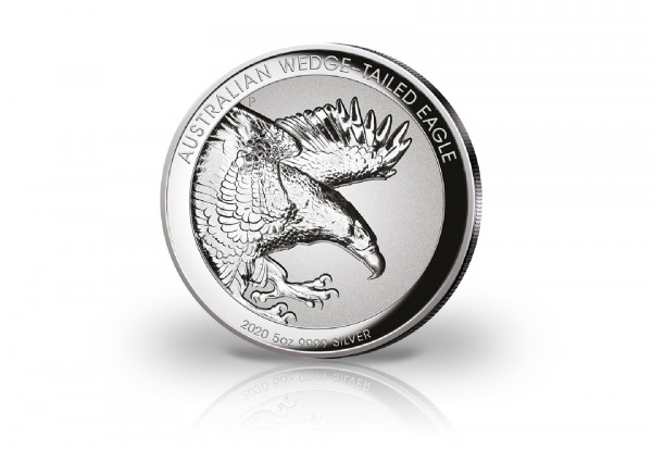 Wedge Tailed Eagle 5 oz Silber 2020 Australien