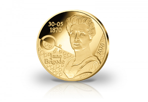 12,5 Euro Goldmünze 2020 Belgien 150. Geburtstag Jane Brigode PP im Etui