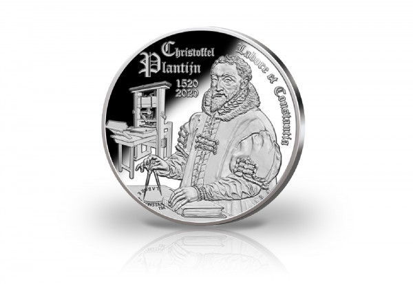 10 Euro Silbermünze 2020 Belgien 500. Geburtstag Christoffel Plantijn PP im Etui