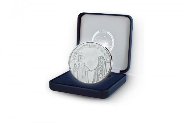 10 Euro Silbermünze 2020 Belgien Jan van Eyck PP im Etui
