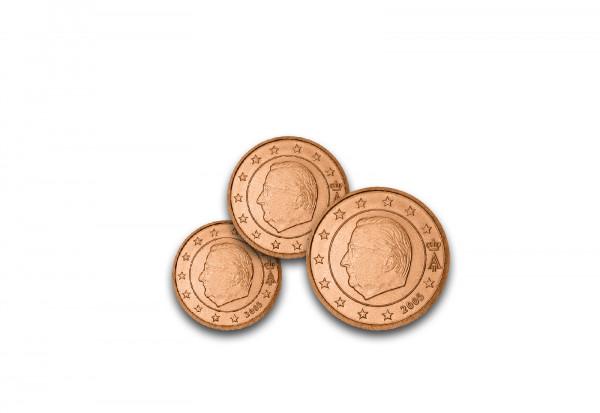 1, 2, 5 Cent Belgien bfr.