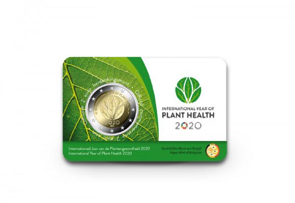 2 Euro 2020 Belgien Internationales Jahr der Pflanzengesundheit st in Coincard