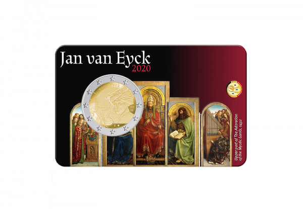2 Euro 2020 Belgien Jan van Eyck st im Blister