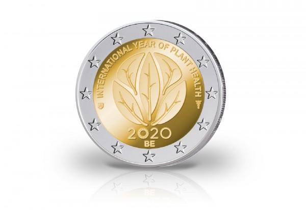 2 Euro 2020 Belgien Internationales Jahr der Pflanzengesundheit PP im Etui