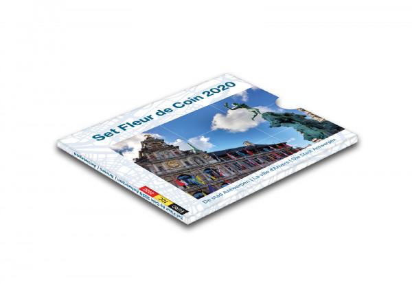 Kursmünzensatz 2020 Belgien inkl. 2,5 Euro 75 Jahre Frieden und 2,5 Euro 100 Jahre Olympia Antwerpen
