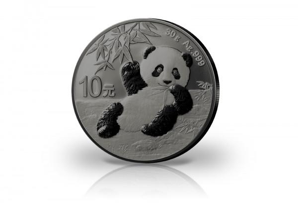 Panda 30 Gramm Silber 2020 China veredelt mit Ruthenium