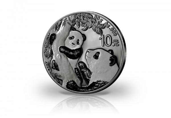 Panda 30 Gramm Silber 2021 China veredelt mit Ruthenium