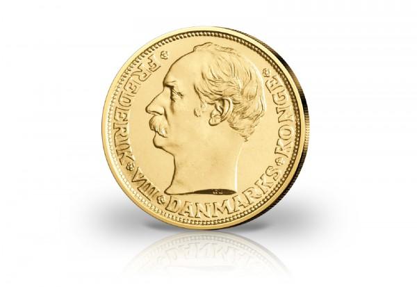 20 Kronen Goldmünze 1908-1912 Dänemark Frederik VIII.