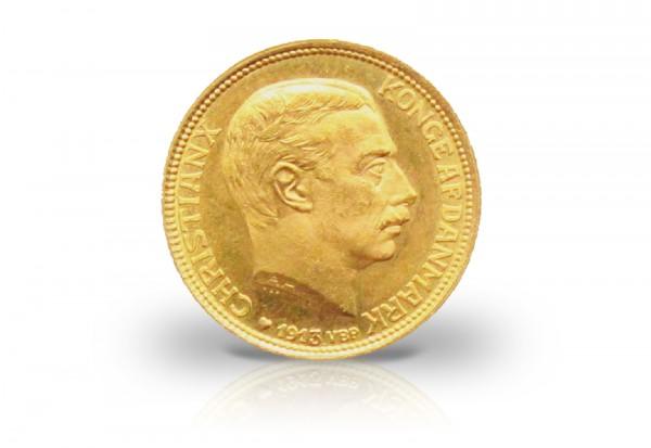 10 Kronen Goldmünze 1913-1917 Dänemark König Christian X.