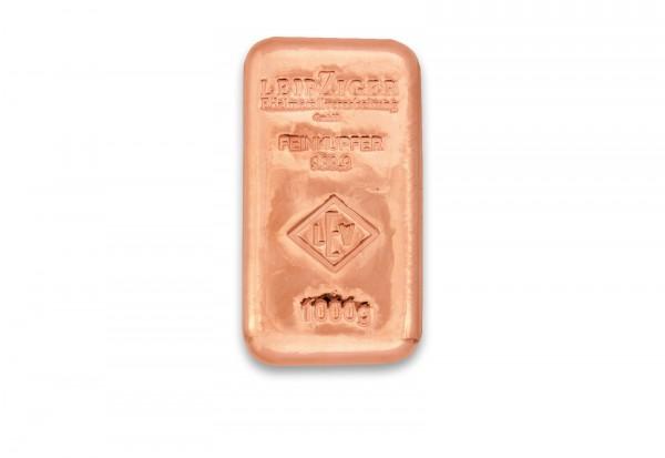 Kupferbarren 1 kg