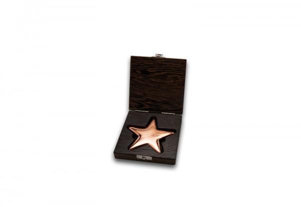 Kupferbarren 500 g Motiv Stern im Etui