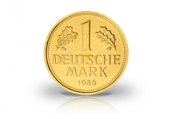 1 DM BRD Kursmünze mit 999er Gold