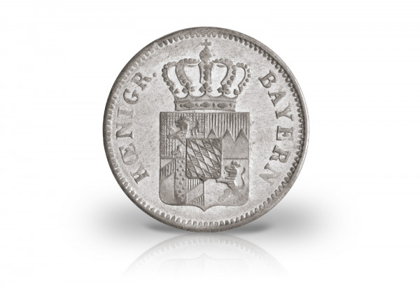 1 Kreuzer 1849-1864 Bayern Maximilian II. Motiv Wappen AKS 155, 156