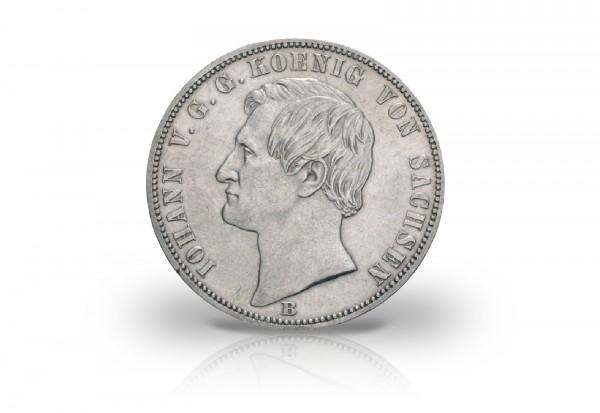 Siegestaler 1871 Königreich Sachsen Johann Thun 351
