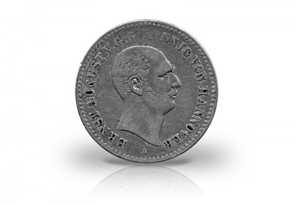 Taler 1842 bis 1847 Hannover König Ernst August Thun 164 sehr schön