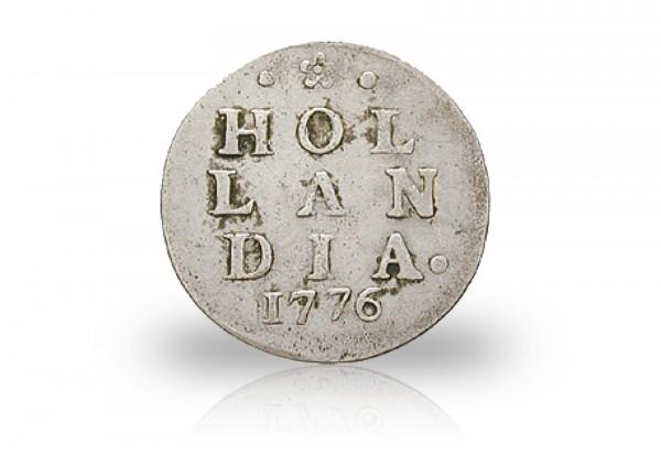 2 Stuiver Silbermünze 1701-1793 Niederlande Provinzen