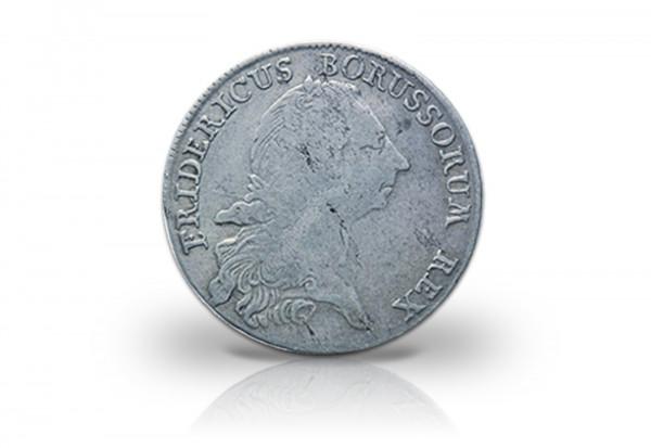 1/2 Taler 1751-1767 Brandenburg Preußen Friedrich der Große ss