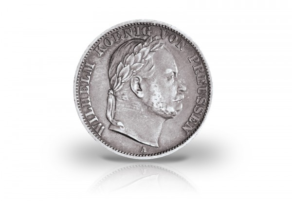 Vereinstaler 1866 Preußen Wilhelm I. AKS 117/Thun 271