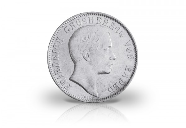 Baden 1/2 Gulden 1856/1860 ss mit Voigt