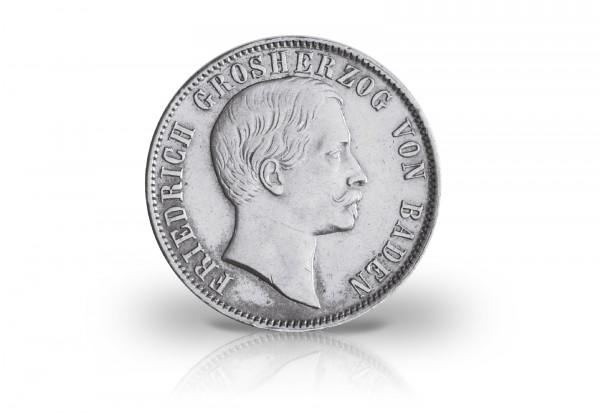 Baden 1/2 Gulden 1860/67 ss Großherzog Friedrich (ohne Voigt)