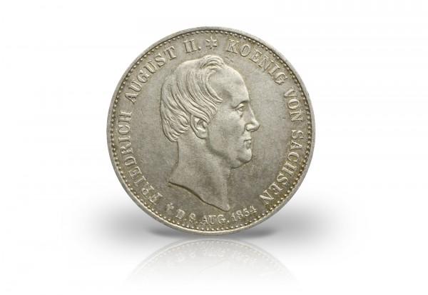 Ausbeutetaler 1854 Sachsen Friedrich August II. AKS 118