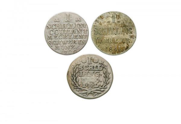 Schilling 1600-1871 deutscher Staaten diverse Nominale