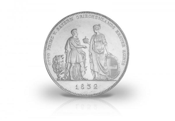 Geschichtstaler 1832 Bayern Griechenlands erster König Thun 60