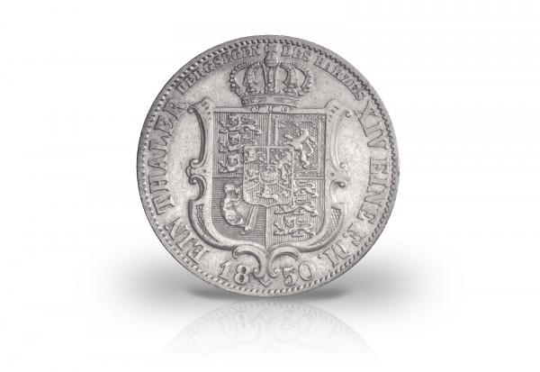 Ausbeutetaler 1850-1851 Hannover König Ernst August Thun 169