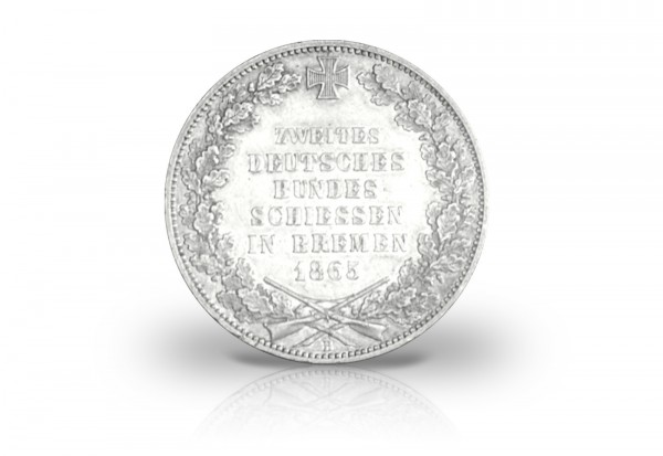 Freie Hansestadt Bremen 1865 Taler Bundesschiessen