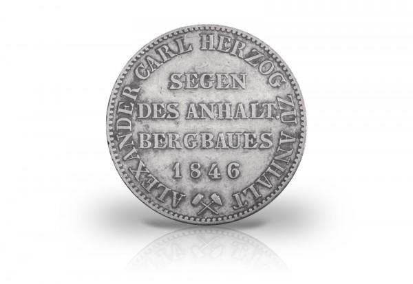 Ausbeutetaler 1846 Anhalt Herzog Alexander Carl AKS 16 Thun 3