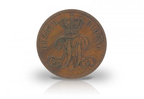 3 Schwaren 1858-1869 Oldenburg Wappen AKS 32