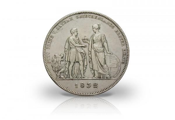 Geschichtstaler 1832 Bayern Ludwig I. und Otto von Griechenland AKS 127