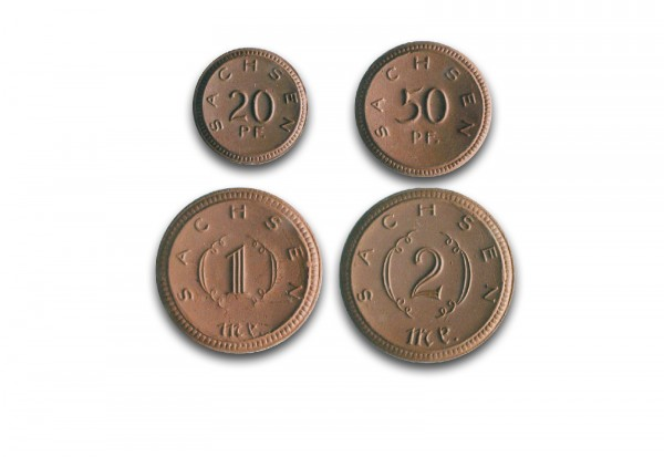 Notgeld 1920-1921 Sachsen J. N53-56 ss/vz