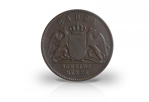 1 Kreuzer 1831-1871 Kaiserreich Baden