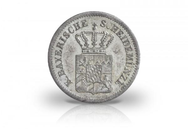 Bayern 1 Kreuzer 1865-1871 Maximilian II. bis Ludwig II. Motiv Wappen